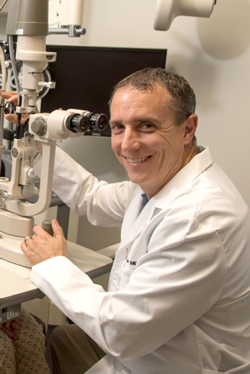 doctor operating a lasik machine